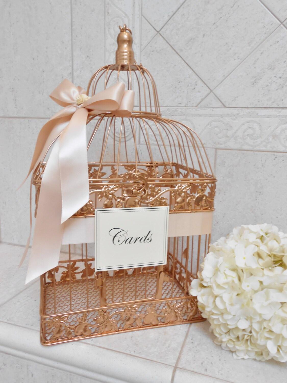 Large Rose Gold And Blush Wedding Card Box Wedding Card