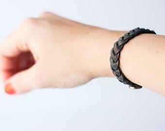 Braided Leather Bracelet / Stardust