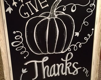 Give Thanks - chalkboard sign