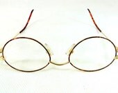 SALE! Vintage Gold-Framed Glasses, German Nigura Gold Filled + Tortoiseshell-Framed Spectacles Eyeglasses + Case 1950s