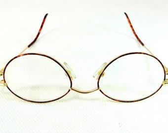 SALE! Vintage Gold-Framed Glasses, German Nigura Gold Filled + Tortoiseshell-Framed Spectacles Eyeglasses + Case 1950s