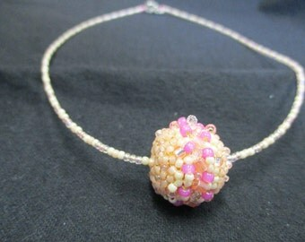 Pink Beaded Bead Necklace