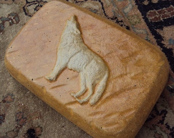 Wolf Stone Doorstop, Wolf, Shipping Included