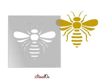 """Bee  Craft and Wall Stencil - Reusable Mylar - Sizes 1"""" to 21"""""""
