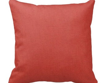 Solid Coral Pillow Covers, Coral Pillows,Solid Pillows, Decorative Pillows,Couch Pillows, Pillows, Pillow Covers,Euro Shams, Pillow Sets