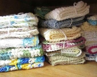 6 Handcrafted Crochet Dish Cloths Wash Cloths