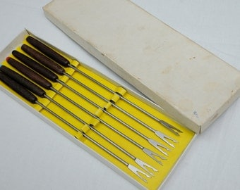 Six 1960s Fondue Forks