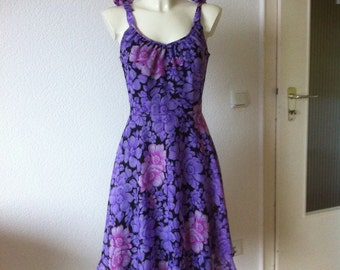 50s 60s Floral Babydoll Dress