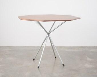 Mid Century Modern Octagonal Chrome Table