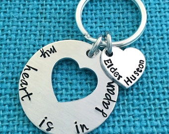 Missionary Keychain - Hand stamped for LDS Missionaries