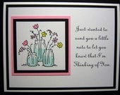 Mason Jars with Flowers Thinking of You Card