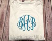 Monogram Baby Gown, monogram shirt for girls, baby coming home outfit, personalized baby gift