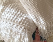 Vintage Chenille - Fluffy White Popcorn Chenille Bedspread