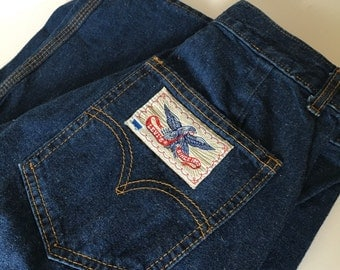 "Vintage High Waisted Levi's Bell Bottom Jeans - 26"" Waist"