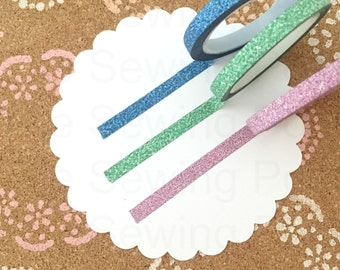SALE Thin Glitter Washi Tapes: Colors