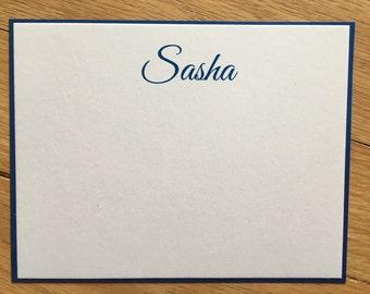 The Sasha// 2 layer flat notecards