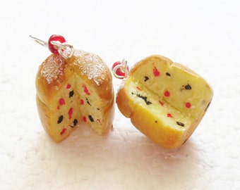 Panettone Earrings. Polymer Clay.