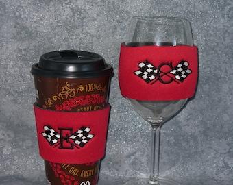 Coffee Sleeve,Wine Glass Sleeve, Racing Sleeve,  Coffee Cozy,