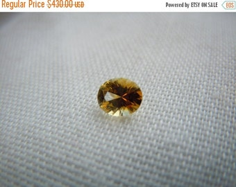 SEPTEMBER SALLE Genuine Montana Sapphire Yellow Orange Oval cut .47 carat Loose Gemstone for Engagement or Jewelry
