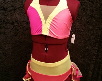 Two Piece Dance Costume Base Add Bling package or stone yourself!