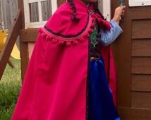Princess Anna Dress - Frozen Princess Anna Costume - Princess Anna Dress - Frozen Costume - Toddler Girls Disney Dress - Anna Dress Frozen