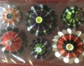 Pack of 6 Rosettes - Halloween Themed, 3 Small & 3 Medium