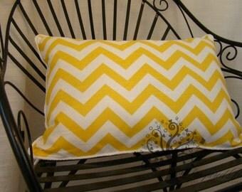 """PREMIER PRINTS CHEVRON Pattern / Yellow and White - Pillow Cover - 20"""" x 15"""""""