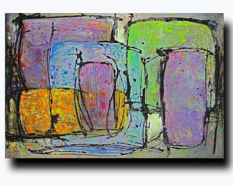 "Art  Abstract painting Canvas painting Contemporary painting  Original painting Layers of Color 24""x36"" Acrylic on Canvas fine art..."