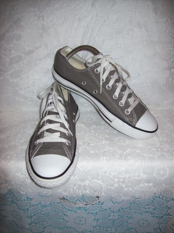 vintage s gray canvas converse all tennis shoes