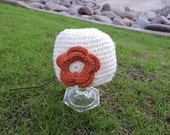 New Baby, 3-6 month, Crochet Hat Autumn Colored, Great Photo Prop or Baby Shower Gift