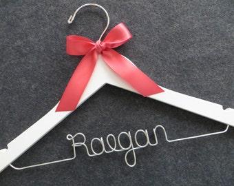 FLOWER GIRL Hanger, Personalized Hanger, Childrens Hanger, Baby Shower Gift, Child Size Hanger, Kids Hanger, Flower Girl Gift, Name Hanger