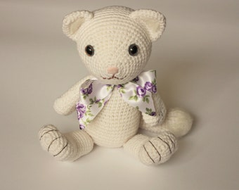 Amigurumi Cat Pattern - Bianca - Crochet Cat Tutorial - Digital Download - Printable -  In English