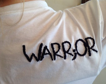 Made to Order-Hand Embroidered Warr;or Tee