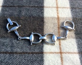 vintage original GUCCI sterling silver Horesbit bracelet late 60's early 70's