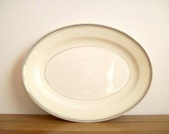 Greek Key Platter, Vintage, Hollywood Regency
