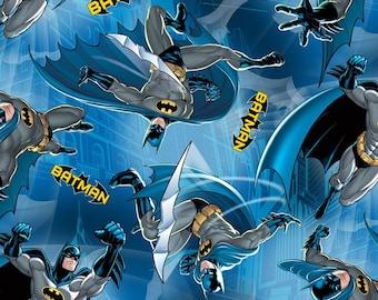 Batman in Gotham City Fleece Fabric David Textiles by the Yard