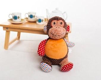 Personalised Monkey Soft Toy