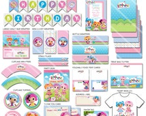 Lalaloopsy Party Package | Lalaloopsy Birthday Party Package | Printable Lalaloopsy Decorations Party Pack | Invitation available ON SALE