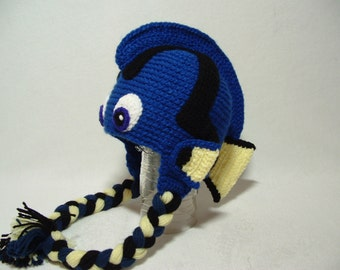 Dory Hat Earflap Girl or Boy. Any size.