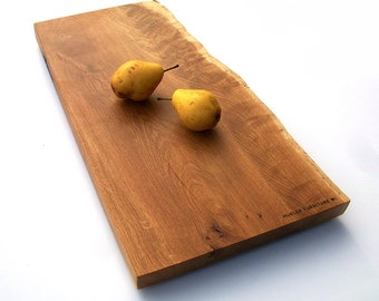 Serving Platter \ Cutting Board \ White Oak \ One-of-a-kind \ Salvaged \ Wisconsin \ Extra Thick Wood \ Live Edge