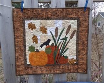 Fall Quilt,  Pumpkin Wall Quilt, Harvest Quilt 0309-02