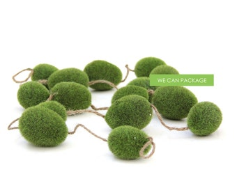 SALES! Moss Ball Garland Banner for Spring Easter Decorations