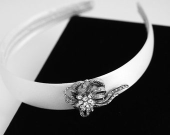 Wedding Headband, Made with Vintage Jewelry Pieces, Vintage Wedding Jewelry, Bridal Headband, Bridal Hair Accessories, Jewelled Headband