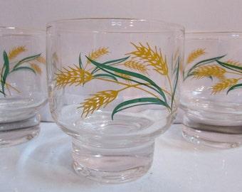 Vintage Wheat Juice Glasses Set of 4