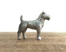 Vintage Miniature Lead Dog Figurine