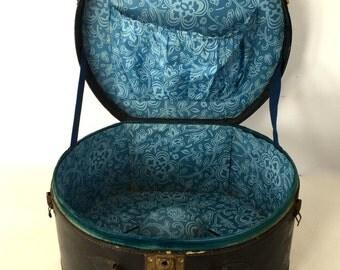 Vintage suitcase - hat suitcase/box