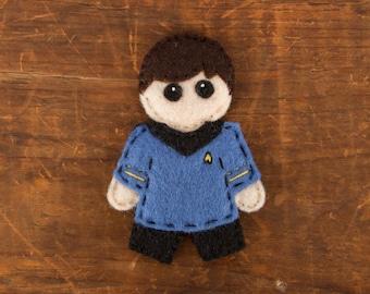 Star Trek TOS Doctor McCoy in Uniform Felt Pin