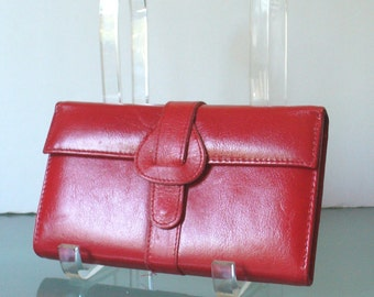 Vintage Red Leather Grooming Case