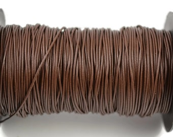 1.5mm Greek Leather - Chocolate Brown Greek Leather Cord - 15 Feet