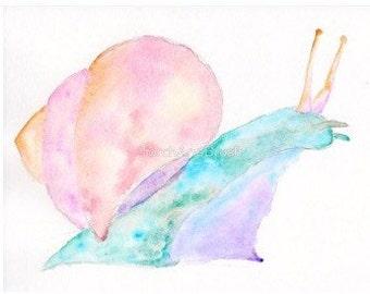 Dream Snail - OOAK Watercolor Spirit Animal